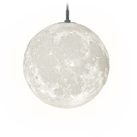 月のペンダントライト