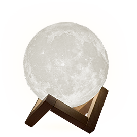 月の卓上ライト